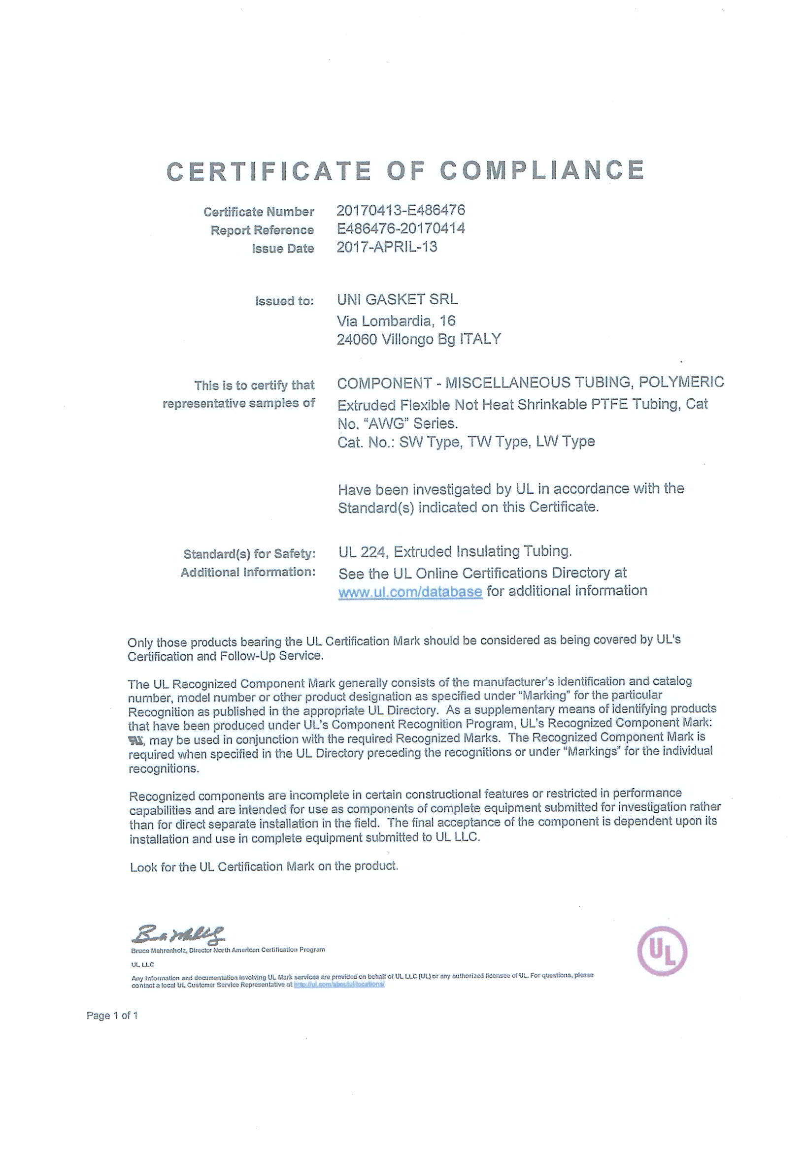 Ul certificate of compliance back to archive xflitez Gallery